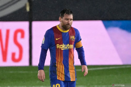 Barcelona kalah, Lionel Messi jalani puasa gol terlama di El Clasico