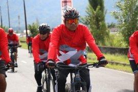 Olly-Steven-Forkopimda \'fun bike\' dan tebar benih di Danau Tondano
