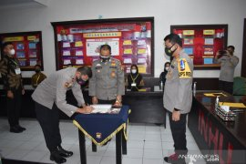 Polres Inhu tandatangani pakta integritas penerimaan calon anggota Polri