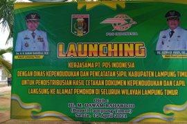 Di Lampung Timur, KTP-el diantar ke rumah oleh petugas kantor pos