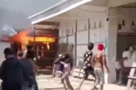 10 lapak pedagang di Pasar Campalagian Polman ludes terbakar