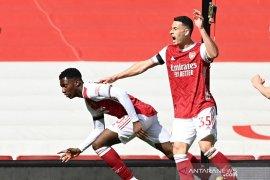 Gol larut Nketiah menyelamatkan Arsenal dari kekalahan lawan Fulham