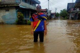 Banjir rendam permukiman warga perbatasan RI-Malaysia