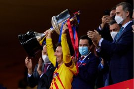 Lionel Messi bangga jadi kapten Barcelona