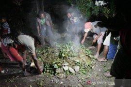 Kepala suku Dambet gelar acara bakar batu syukuri selamat dari serangan KKB