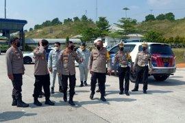 Kemarin Kakorlantas Polri survei lokasi penyekatan larangan mudik di Lampung
