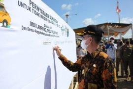 Pemprov Lampung dan komunitas kendaraan ikrar bersama untuk tidak mudik