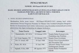 Pansel umumkan lima calon Dewas PDAM  Bengkalis