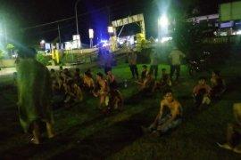 Puluhan remaja di Jalan Raya Sade Lombok Tengah terjaring razia balap liar