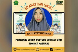 Siswi Madrasah Kaltara juara Webtoon Contest 2021