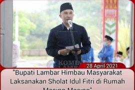 Bupati Lampung Barat imbau warga laksanakan Shalat Idul Fitri di rumah