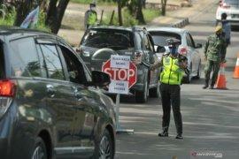 Polisi dirikan lima posko penyekatan mudik di perbatasan Kota Palembang