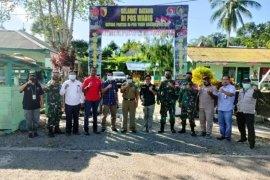 Satgas TNI dampingi tim BNPP tinjau Pos PLBN di Waris Keerom