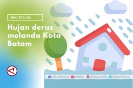 Hujan deras dan angin kencang di Batam