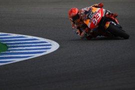 Marc Marquez kembali terjatuh di Jerez