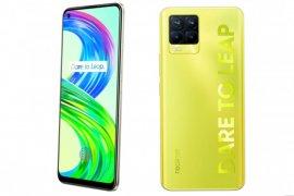 Realme 8 Pro warna lluminating Yellow bercahaya dalam gelap
