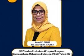 Dari 10 yang diusulkan, empat proposal mahasiswa UNP lolos seleksi program kewirausahaan Ditjen Dikti