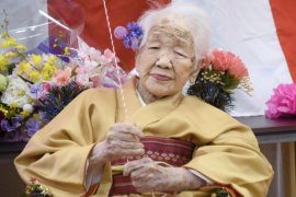 Wanita Jepang berusia 118 tahun mundur dari kirab obor Olimpiade