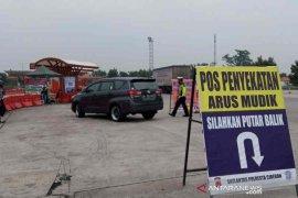 Polresta Cirebon putar balikkan 221 kendaraan pemudik ke daerah asal