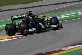 Hamilton tercepat di FP2 GP Spanyol mengungguli Bottas dan Leclerc