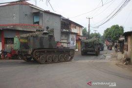 Kapendam Jaya jelaskan Tank Yonarmed bukan untuk penyekatan mudik tapi sedang latihan