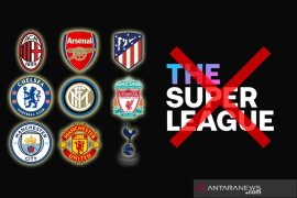 Sembilan klub inisiator Liga Super Eropa hanya dihukum denda