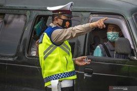 Penyekatan Pemudik Di Perbatasan Palembang-Ogan Ilir