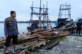 Polisi Bangka Tengah tertibkan praktik penambangan bijih timah ilegal