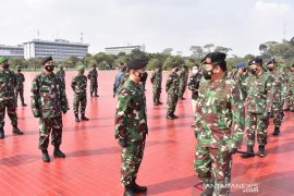 Panglima TNI menerima laporan kenaikan pangkat 56 Perwira Tinggi