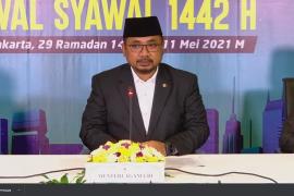 Pemerintah menetapkan Idul Fitri 1442 Hijriyah jatuh pada Kamis 13 Mei