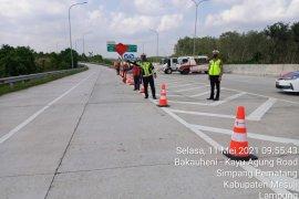 Arus kendaraan di ruas Terpeka alami penurunan 42 persen dari arah pelembang