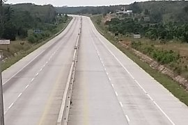 Jalan Tol Trans Sumatera lengang