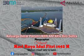 Perum LBKN ANTARA Biro Sultra mengucapkan Selamat Hari Raya Idul Fitri 1442 Hijriyah