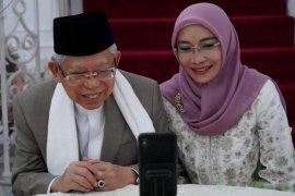 Presiden Jokowi bersilaturahmi dengan Wapres secara daring