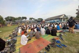 Shalat id di Lapas Narkotika Bandarlampung berlangsung khidmat