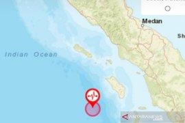 Nias Barat diguncang gempa magnitudo 7,2