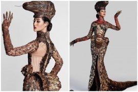 Ayu Maulida Putri dalam balutan kostum komodo di Miss Universe