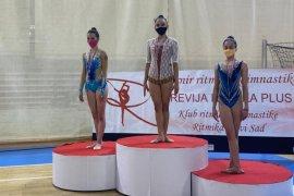 Dua pesenam ritmik Lampung raih medali di Serbia