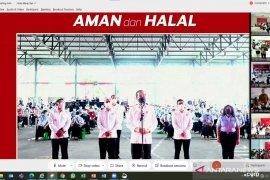 Presiden pantau vaksinasi Gotong Royong perdana untuk 1.000 karyawan Indocement