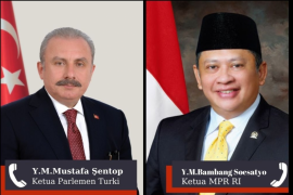 Ketua MPR RI dan Ketua Majelis Turki bahas agresi Israel ke Palestina