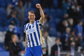 Rekor kemenangan tandang Manchester City terhenti di Brighton