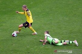 Dwigol Haaland antar Dortmund tundukkan Leverkusen di pengujung musim