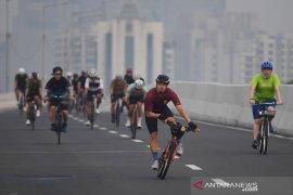 Uji coba sepeda sebagai alat transportasi berlangsung sepekan