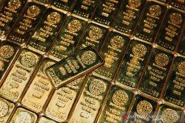 Emas turun dipicu imbal hasil obligasi pemerintah AS naik