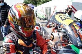 Qarrar Firhand raih podium pertama pada kejuaraan gokart di Italia