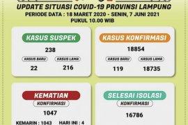 Kasus positif COVID-19 di Lampung bertambah 119 menjadi 8.854 orang