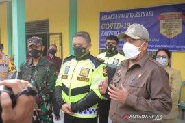 Ditinjau Kapolda Riau dan Danrem, Alfedri: 33 ribu warga Siak sudah divaksin
