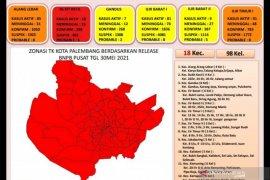 Jumlah kecamatan zona merah di Kota Palembang meningkat lagi