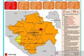 Kota Palembang belum turun dari status zona merah COVID-19