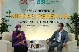 194,3 ribu nasabah BNI Syariah dan BRI Syariah Riau akan diintegrasikan ke BSI